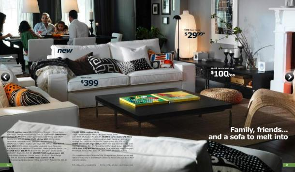 IKEA white couch chair