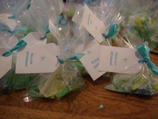 she s crafty: beach glass candy wedding favors A Prima Vista